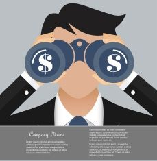 Business and finance vision concept vector art illustration