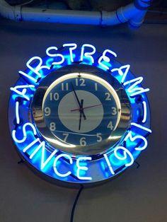 Airstream Neon Clock