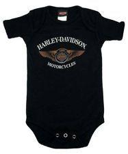 Harley-Davidson® Baby Boys 110th Anniversary Winged Logo Black Creeper 1353116