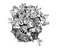 Ilustrações que desafiam a realidade arquitetônica,Pequeño Mundo. Image Courtesy of Juan Luis López