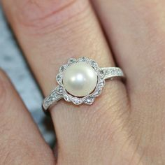 Hey, I found this really awesome Etsy listing at https://www.etsy.com/listing/200889506/vintage-inspired-floral-pearl-ring-in