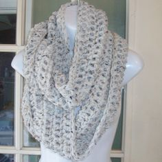 Aran color winter wheat infinity cowl scarf by MatsonDesignStudio, $24.00