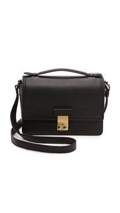 04a40778b001 3.1 Phillip Lim   Pashli Mini Messenger (via ShopBop.com) Black Leather  Messenger