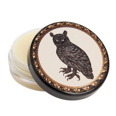 The Soap and Paper Factory's collaboration with Patch NYC results in gorgeous solid fragrances made from 100% pure jojoba and beeswax. The compact size makes them ideal for travel and freshening up on the go. Handmade in the USA. The Owl is a mixture of sandalwood, tobacco and vetiver.