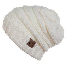 Unisex Soft Stretch Oversized Knit Slouchy Beanie (Ivory) – Niobe Clothing  Beanie Slouchy Chapéus 680899ccd9f