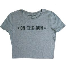 On the Run Crop Tee ($22) ❤ liked on Polyvore featuring tops, t-shirts, shirts, crop tops, scoop neck top, t shirts, blue tee, blue crop top and cropped scoop neck tee