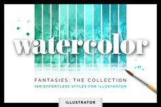 Watercolor Glitter Styles Vector Ai by Creators Couture on @creativemarket