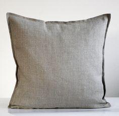 2 Linen pillow covers grey - decorative covers - throw pillows - shams - 18x18
