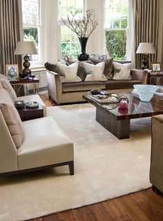 Terrific living room decor.