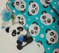Chaveiro fofo de panda  Biscuit