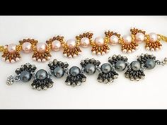 TheHeartBeading: Beaded Bracelet with Pearls, Crystals and Superduos Tutorial - YouTube