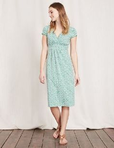#Boden Casual Jersey Dress Chalky Green Mosaic Women #Theres a reason why this dress is a bestseller season after season. The wrap detail on the bust... The cinched-in waist... The soft A-line shape... It all adds up to a wardrobe classic that youll wear and wear. Now in an array of new shades and prints.