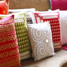 #cushioncovers #cushions #applique #embroidery #mirrorwork #cotton #home #decor #lifestyle #summer #bedlinen #Fabindia