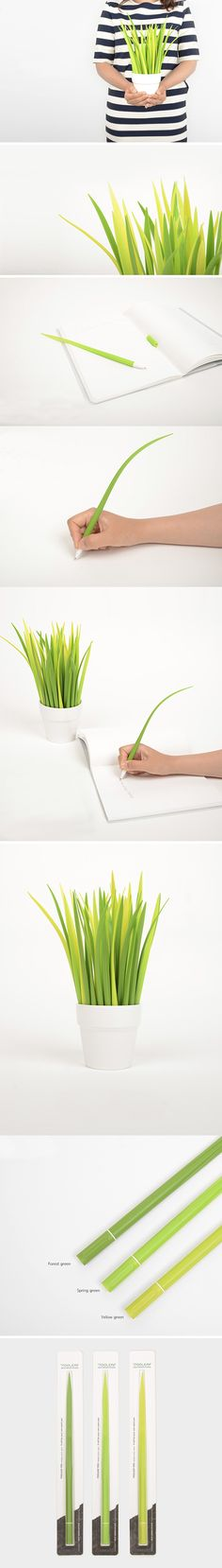 Pooleaf : Pens That Camouflage As Grass