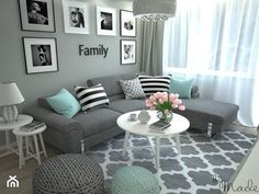 turquoise and grey living room / turquoise and grey living room , turquoise and grey living room ideas , turquoise and grey living room decor , turquoise and grey living room teal Mint Living Rooms, Small Living Room Decor, Room Decor Bedroom, Apartment Decor, Small Apartment Living Room, Living Room Decor Apartment, Classy Living Room, Living Room Grey, Room Interior