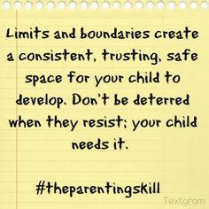 Set limits! |  Parenting Quotes #parentingquotes