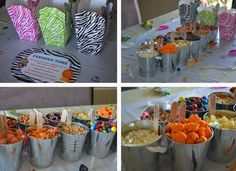 zoo themed birthday snack bar ideas