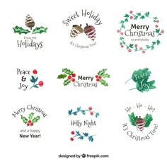 : More than a million free vectors, PSD, photos and free icons. Exclusive freebies and all graphic resources that you need for your projects Christmas Doodles, Christmas Card Crafts, Christmas Labels, Christmas Drawing, Christmas Cards To Make, Christmas Clipart, Christmas Stickers, Christmas Printables, Christmas Art