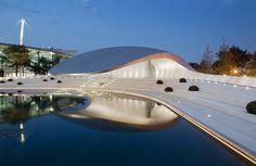 Automotive acropolis: Porsche pavilion by Henn Architecten.
