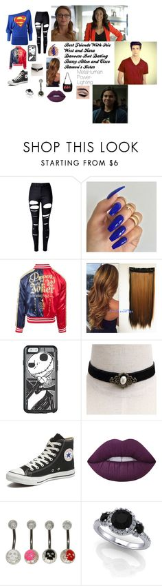 """Best Friends With Iris West and Kara Danvers But Dating Barry Allen and Cisco Ramon's Sister"" by harleyquinn-dxiv ❤ liked on Polyvore featuring WithChic, OtterBox, Converse and Lime Crime"