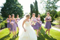 Trendy Bridesmaid Styles Lilac Bridesmaid Dresses for Romantic Purple Weddings