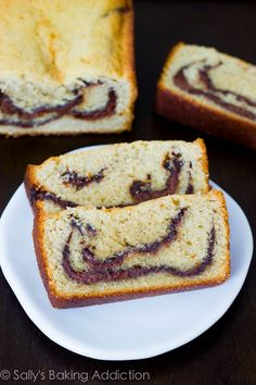 Buttery, soft, chocolatey Nutella Swirl Pound Cake. My favorite pound cake recipe!