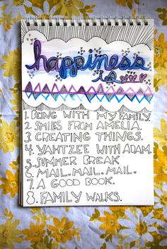 Day 7    Journal Prompt: What is happiness? What defines your happiness? What makes you happy?