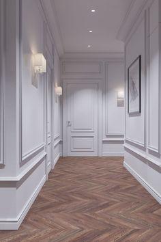 Hall Room Design, Corridor Design, Interior Design Living Room, Living Room Designs, Apartment Interior, Apartment Design, Dream Home Design, House Design, Luxury Kitchen Design