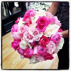www.flowerhillflowers.com #fhflowers #bridalbqt #pinkwhitetealbridalbqt