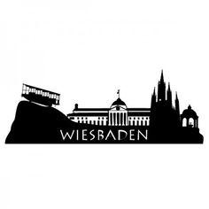 Wiesbaden ist die Landeshauptstadt des deutschen Bundeslandes Hessen und seinen 15 Thermal-und Mineralquellen, eines der ältesten Kurbäder Europas. #Wiesbaden #Skyline #Stadt #Wadeco // http://www.wadeco.de/skyline-wiesbaden-wandtattoo.html