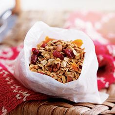 homemade granola. Very good. I left out the walnuts and added almonds. Also did not do the brown sugar and less honey and syrup. I didn't want it too sweet. Perfect with my morning yogurt!