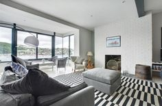Waterside property with impressive harbour views. A high standard of accommodation within a few minutes' walk of Fowey town centre and Readymoney Cove. Harbor View, Fowey Cornwall, Bean Bag Chair, Cottage, Luxury, Holidays, Furniture, Home Decor, Travel