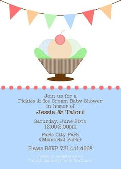 Pickles and Ice Cream Baby Shower...precious!!!!