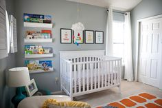 Project Nursery - Gray and Orange Eclectic Room Crib