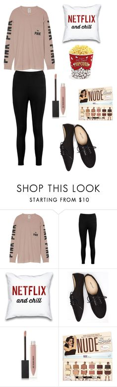 """""""Netflix and Chill"""" by curvalicious ❤ liked on Polyvore featuring Victoria's Secret, Boohoo, Wet Seal, Burberry, West Bend, cute, chic and netflix"""