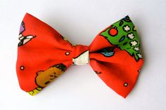 Charlie Brown Christmas Bow by MadebyJewelz on Etsy, $3.79