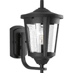 Progress Lighting East Haven 12.75-in H Black Outdoor Wall Light