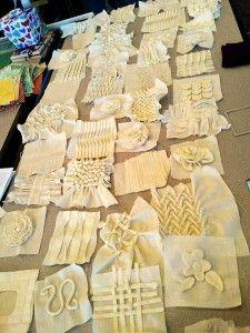 vintage sewing techniques as quilt blocks