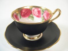 Antique Royal Albert Tea Cup And Saucer Old English Rose