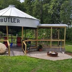 Building a gazebo from a grain bin   Living the Country Life
