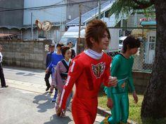 Go Busters, 80s Fashion, Power Rangers, Live Action, Hero, Japanese, Costumes, Japanese Language
