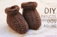 Regalo DIY para hacer en Navidad  Zapatos de punto para bebé Punto Bebé 70805162b06