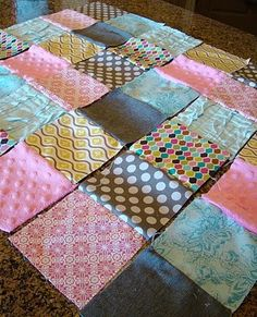MAKE A QUILT -Quilting for first timers  Look at her whole blog.  you will be amazed and inspired. - Click image to find more DIY & Crafts Pinterest pins