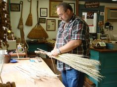 Thought this was fitting to re-pin since we are coming up on Halloween and witchy season. :) Broom Making in the craft community