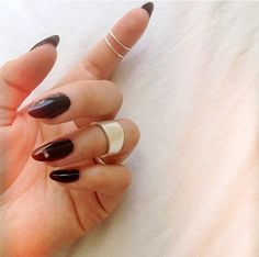 Black nails..always a classy go-to  <3