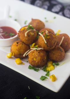 These loaded mashed potato balls are crisp on the outside with gooey cheesy goodness - no need to dip individual balls in batter and Its VEGETARIAN. Gourmet Recipes, Cake Recipes, Healthy Recipes, Canapes Recipes, Moistest Red Velvet Cake Recipe, Frozen Appetizers, Kulfi Recipe, Loaded Mashed Potatoes, Onion Tart