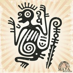 Вектор: Ornament in style of the Maya