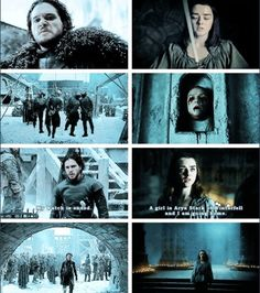 Game of Thrones - - There is Stark's blood in their veins. Game Of Thrones Show, Game Of Thrones Jokes, Got Dragons, Mother Of Dragons, Sansa Stark, The North Remembers, Wolf, Little Games, Winter Is Coming