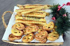 Saratele si covrigei fragezi cu branza, untura, unt si smantana Tapas, Romanian Food, Unt, Pasta, Bagel, Biscuits, Sweets, Bread, Dishes