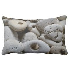 Stones with holes cushion.